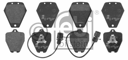 Kit de plaquettes de frein, frein à disque - FEBI BILSTEIN - 16999