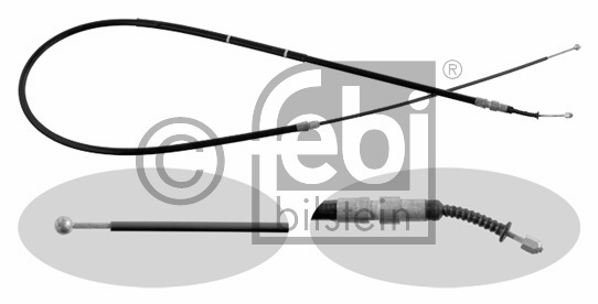 Tirette à câble, frein de stationnement - FEBI BILSTEIN - 31148