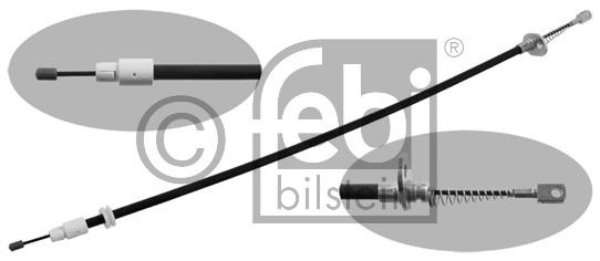 Tirette à câble, frein de stationnement - FEBI BILSTEIN - 34905