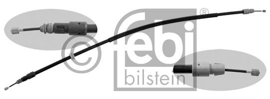 Tirette à câble, frein de stationnement - FEBI BILSTEIN - 34908