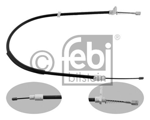 Tirette à câble, frein de stationnement - FEBI BILSTEIN - 34912