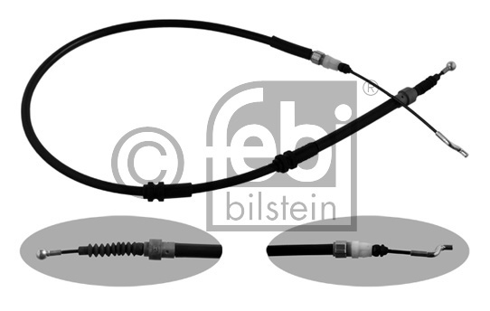 Tirette à câble, frein de stationnement - FEBI BILSTEIN - 36352