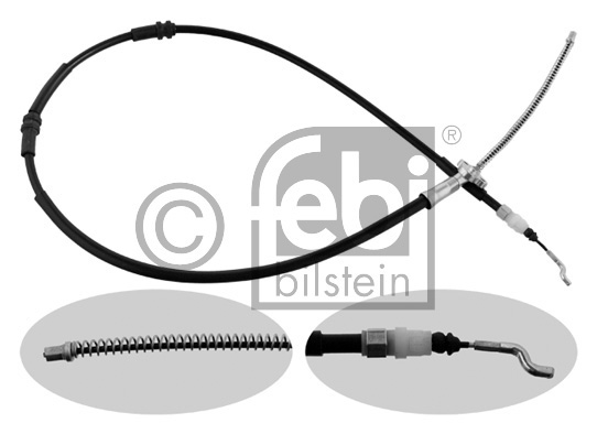 Tirette à câble, frein de stationnement - FEBI BILSTEIN - 36711