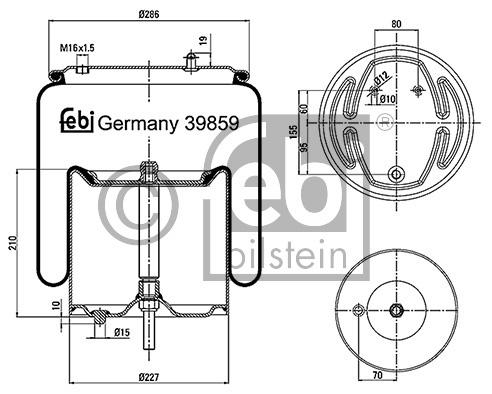 Butée élastique, suspension - FEBI BILSTEIN - 39712