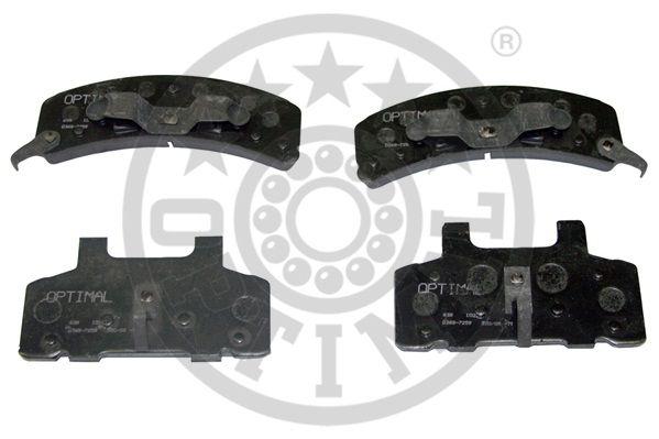 Kit de plaquettes de frein, frein à disque - OPTIMAL - 10014