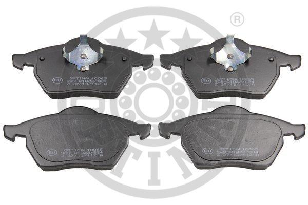Kit de plaquettes de frein, frein à disque - OPTIMAL - 10065