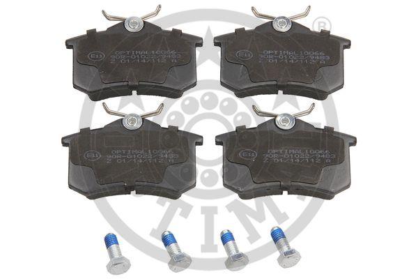 Kit de plaquettes de frein, frein à disque - OPTIMAL - 10066