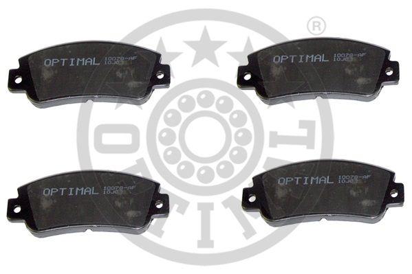 Kit de plaquettes de frein, frein à disque - OPTIMAL - 10078