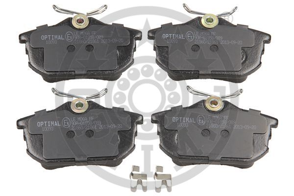Kit de plaquettes de frein, frein à disque - OPTIMAL - 10093