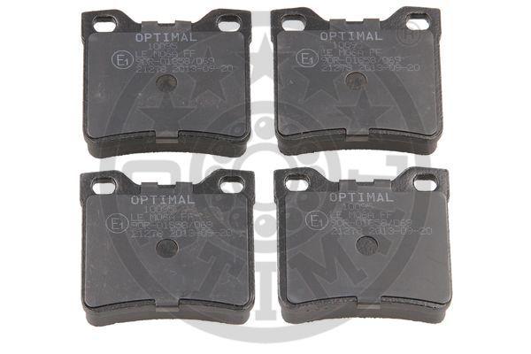 Kit de plaquettes de frein, frein à disque - OPTIMAL - 10095