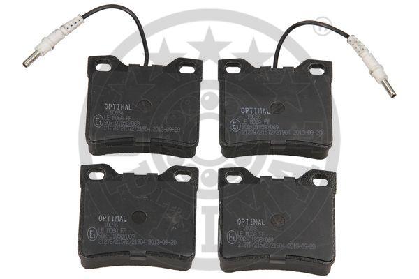 Kit de plaquettes de frein, frein à disque - OPTIMAL - 10096