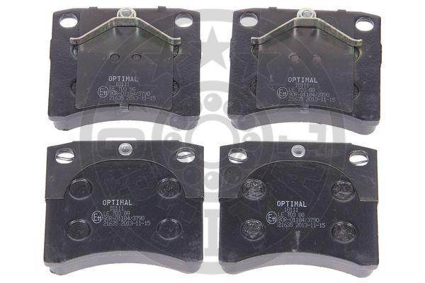 Kit de plaquettes de frein, frein à disque - OPTIMAL - 10111