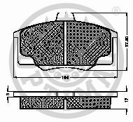 Kit de plaquettes de frein, frein à disque - OPTIMAL - 10117