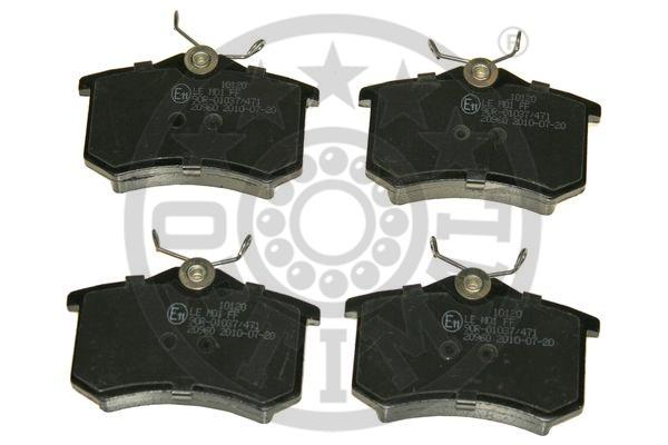 Kit de plaquettes de frein, frein à disque - OPTIMAL - 10120
