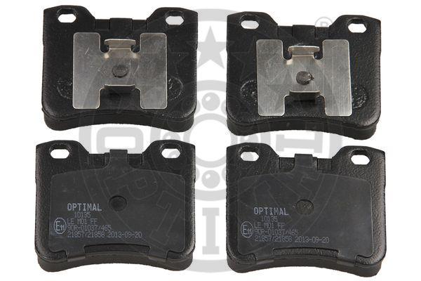Kit de plaquettes de frein, frein à disque - OPTIMAL - 10135