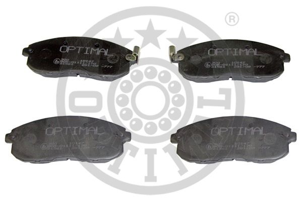 Kit de plaquettes de frein, frein à disque - OPTIMAL - 10147