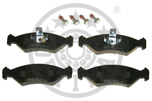 Kit de plaquettes de frein, frein à disque - OPTIMAL - 10148