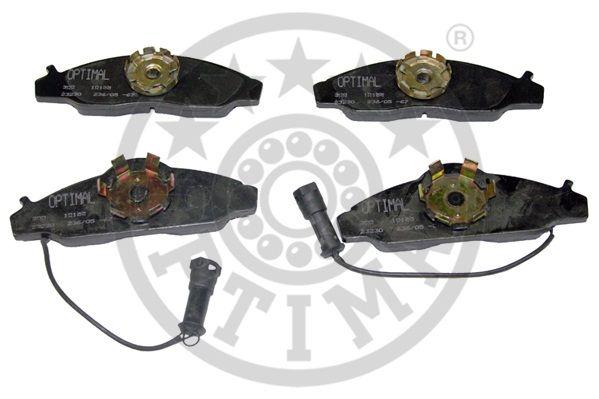 Kit de plaquettes de frein, frein à disque - OPTIMAL - 10155