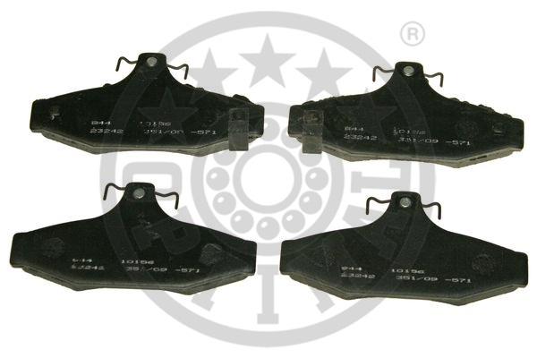 Kit de plaquettes de frein, frein à disque - OPTIMAL - 10156