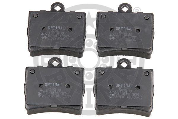 Kit de plaquettes de frein, frein à disque - OPTIMAL - 10169