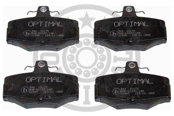 Kit de plaquettes de frein, frein à disque - OPTIMAL - 10175