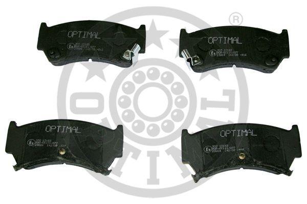 Kit de plaquettes de frein, frein à disque - OPTIMAL - 10183
