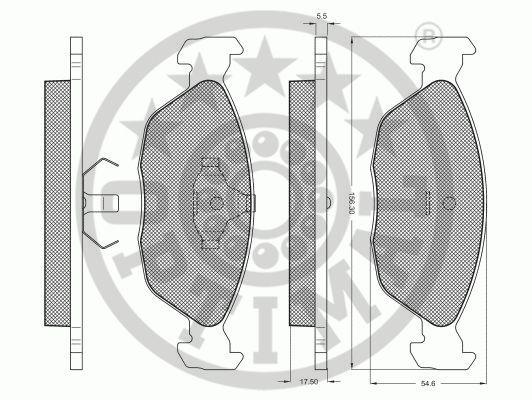 Kit de plaquettes de frein, frein à disque - OPTIMAL - 10194