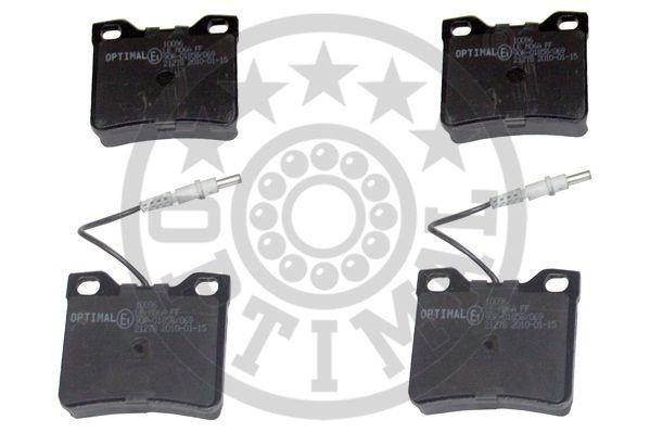 Kit de plaquettes de frein, frein à disque - OPTIMAL - 10196