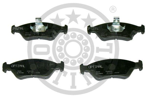 Kit de plaquettes de frein, frein à disque - OPTIMAL - 10202