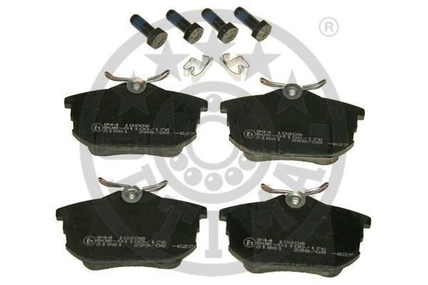 Kit de plaquettes de frein, frein à disque - OPTIMAL - 10208