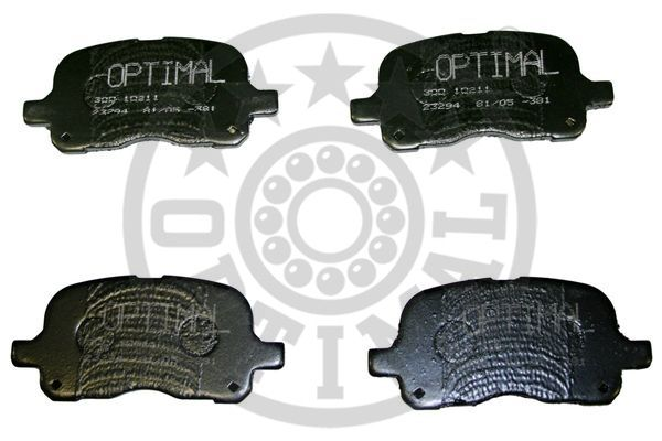Kit de plaquettes de frein, frein à disque - OPTIMAL - 10211
