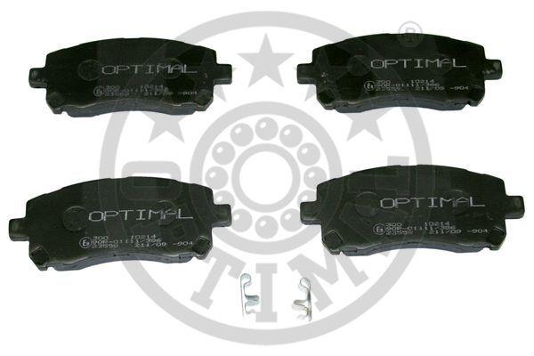 Kit de plaquettes de frein, frein à disque - OPTIMAL - 10214
