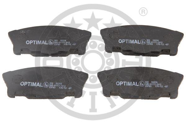 Kit de plaquettes de frein, frein à disque - OPTIMAL - 10216