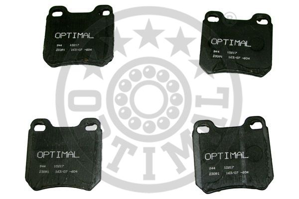 Kit de plaquettes de frein, frein à disque - OPTIMAL - 10217