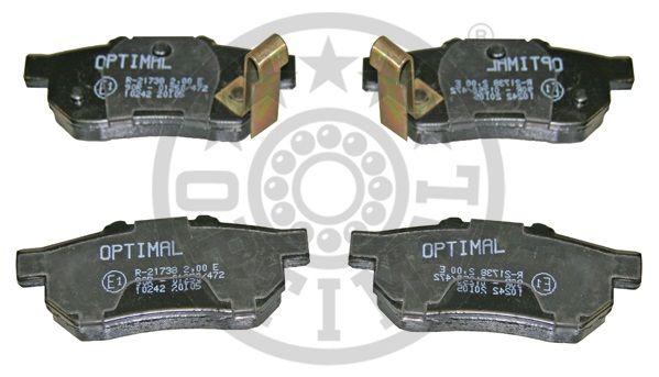 Kit de plaquettes de frein, frein à disque - OPTIMAL - 10242