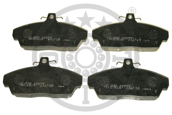 Kit de plaquettes de frein, frein à disque - OPTIMAL - 10259