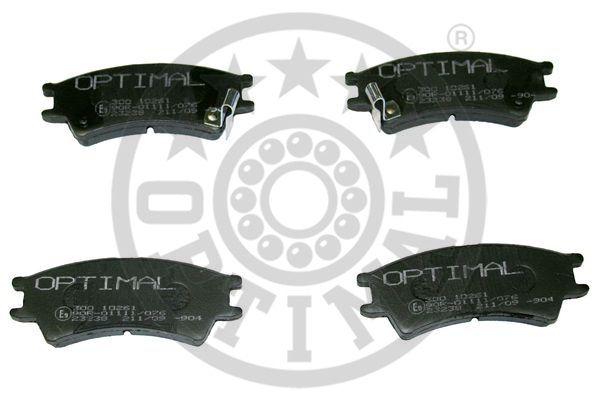Kit de plaquettes de frein, frein à disque - OPTIMAL - 10261