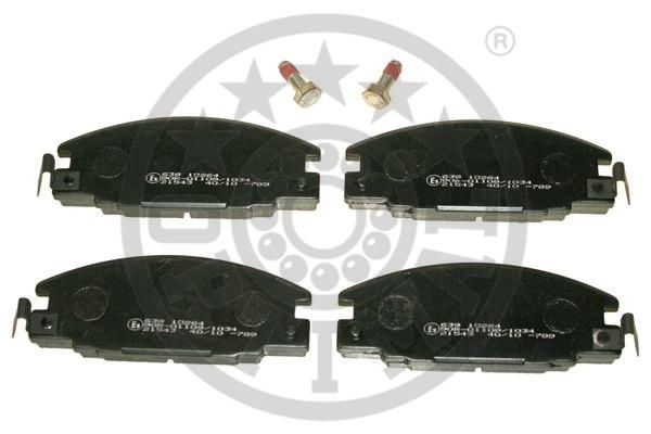 Kit de plaquettes de frein, frein à disque - OPTIMAL - 10264