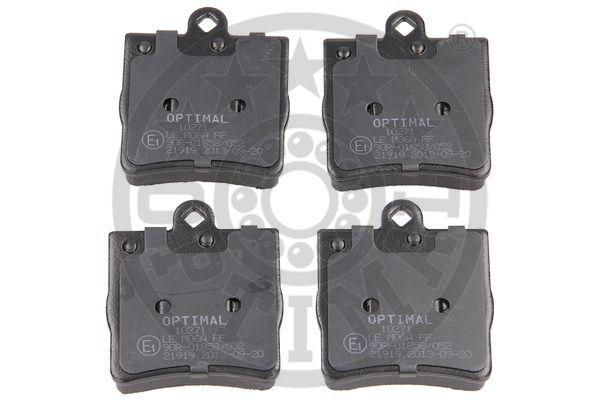 Kit de plaquettes de frein, frein à disque - OPTIMAL - 10271