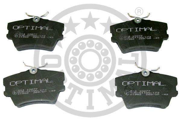 Kit de plaquettes de frein, frein à disque - OPTIMAL - 10277