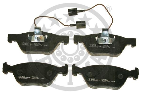 Kit de plaquettes de frein, frein à disque - OPTIMAL - 10280