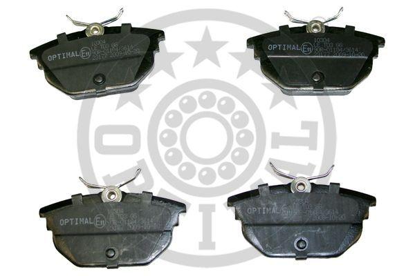 Kit de plaquettes de frein, frein à disque - OPTIMAL - 10304
