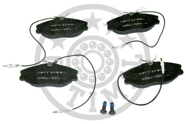 Kit de plaquettes de frein, frein à disque - OPTIMAL - 10309