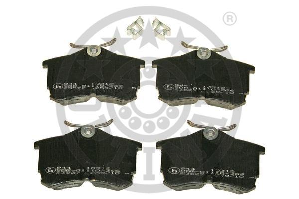 Kit de plaquettes de frein, frein à disque - OPTIMAL - 10312