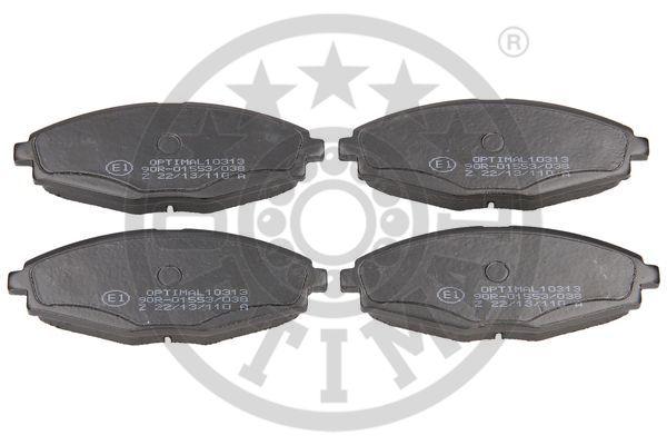 Kit de plaquettes de frein, frein à disque - OPTIMAL - 10313