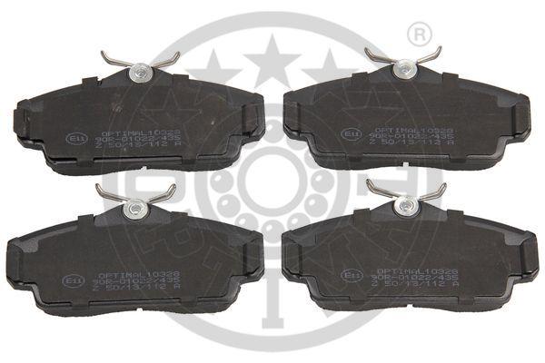 Kit de plaquettes de frein, frein à disque - OPTIMAL - 10328