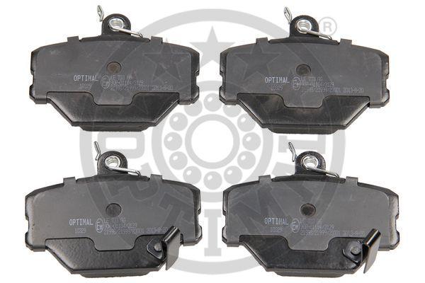 Kit de plaquettes de frein, frein à disque - OPTIMAL - 10329