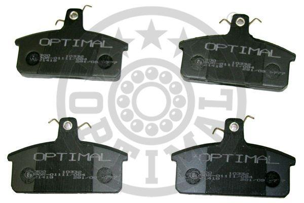 Kit de plaquettes de frein, frein à disque - OPTIMAL - 10332