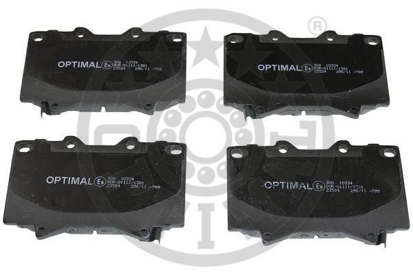 Kit de plaquettes de frein, frein à disque - OPTIMAL - 10334