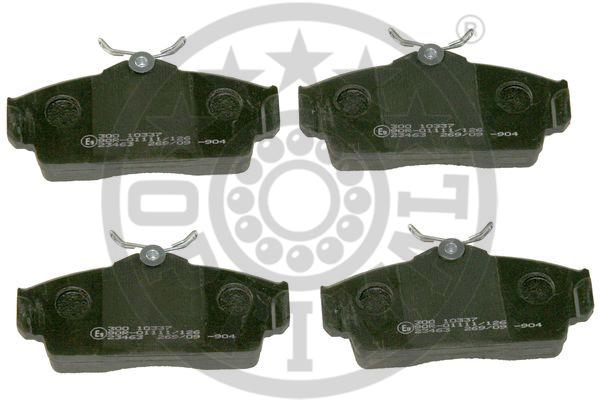 Kit de plaquettes de frein, frein à disque - OPTIMAL - 10337